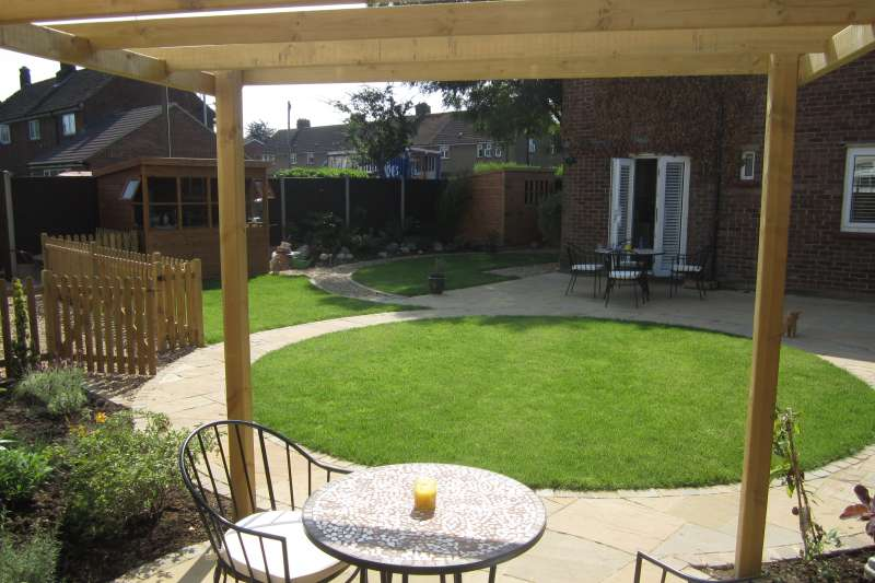 St albans landscaping project feel good gardens for Small square garden designs