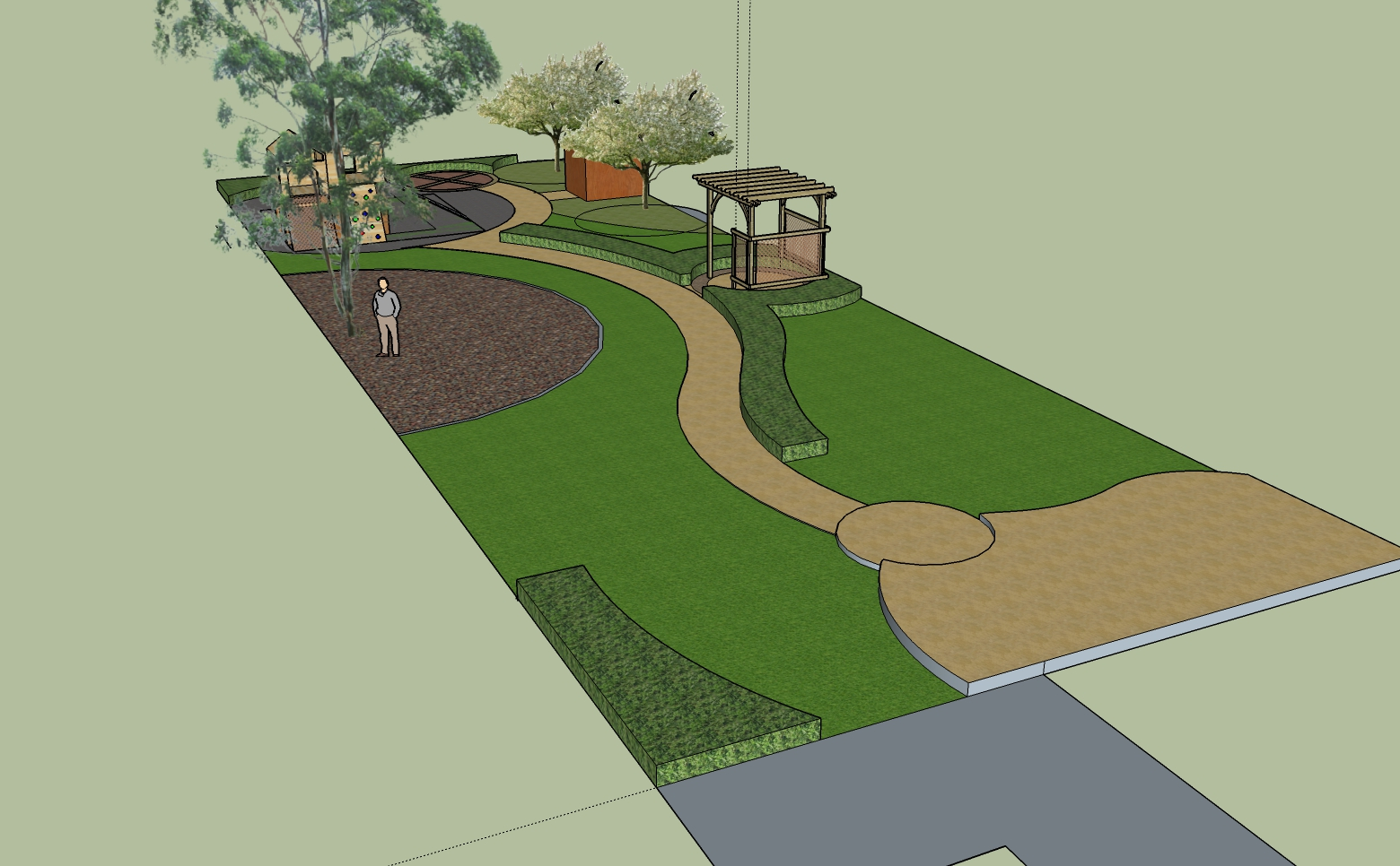 Winding Garden Path Design